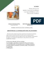 ARISTÓTELES- LA SUPERACIÓN DEL PLATONISMO