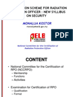 Certification Scheme for Radioaction Protection Officer