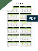 Calendario 2014 - Uma Pagina