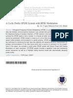 8 a Cyclic Prefix OFDM System With BPSK