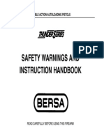 Bersa Model Thunder 380, 22. Manual. Eng.pdf