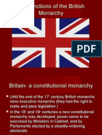 The Functions of the British Monarchy