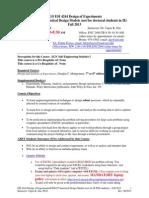 Syllabus ESI 4244 ESI6247 Fall 2013