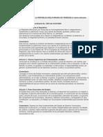 CONSTITUCION DE LA REPUBLICA BOLIVARIANA DE VENEZUELA varios artículos analizados