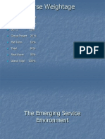 PGDM III the Emerging Service Environment