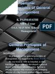 PADMA - General Principles of Management