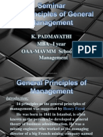 PADMA - General Principles of Management