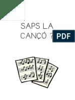 SAPS LA CANÇÓ... COMPLETAR BUITS
