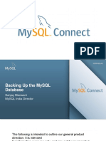 BackingUp MySQL
