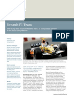 Siemens PLM Renault F1 Analysis Data Transfer Cs Z8