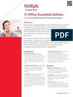 IP Office Essential Edition Fact Sheet- Avaya