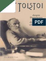 Lev Tolstoi-Despre Dumnezeu şi om_ din jurnalul ultimilor ani-Humanitas (2009)