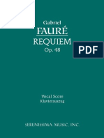 Faure Requiem Vocal Score