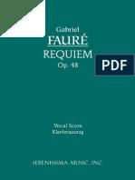 Faure Requiem Vocal Score