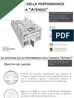 La gestione della Performance nell'Azienda Ateneo