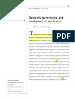 Gobernanza sistémica ydesarrollo en America Latina resaltado