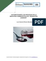 AUTOMATIZANDO LOS PROCESOS EN LA INDUSTRIA FARMACÉUTICA DE  PRODUCTOS  LÍQUIDOS