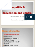 Hepatitis b Prevention and Control