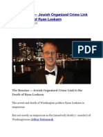 The Russian — Jewish Organized Crime Link to the Death of Ryan Loskarn