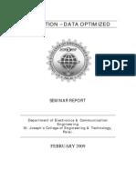 Seminar Report evolution data optimized EVDO