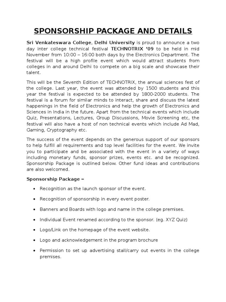 100 event sponsorship cover letter sample of sponsorship event sponsorship cover letter event sponsorship letter example how to write a sponsorship madrichimfo Gallery