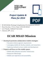 ECAR-MSAD Projects and Futures (202847863)