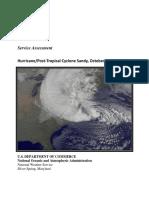 Hurricane/Post-Tropical Cyclone Sandy Service Assessment - NOAA