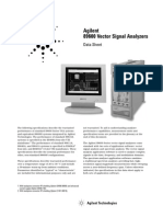 Agilent 89600A Series Vector Signal Analyzer Data Sheet