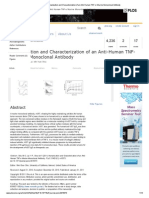 PLOS ONE_ Humanization and Characterization of an Anti-Human TNF-α Murine Monoclonal Antibody