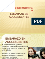 Embarazo en Adolescetnes Www.cuidarenfermeria.com