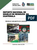 Reporte de Manejo de Residuos de Neumáticos Usados en Guatem