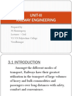 Unit-III Railway Engineering