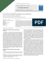Tissue Factor Proangiogenic Signaling in Cancer Progression