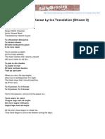 Bollymeaning.com-Tu Hi Junoon Tu Hi Karaar Lyrics Translation Dhoom 3