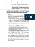 SRI VENKATESWARA UNIVERSITY REVISED M.Phil/Ph.D. REGULATIONS - 2009