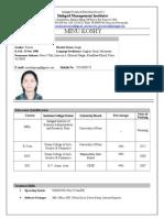 Resume Minu Koshy