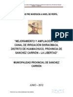 Perfil Canal Huamachuco