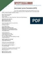 Bollymeaning.com-Ishq Bulava Tenu Takda Ravaan Lyrics Translation HTP