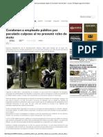 Condenan a empleado público por peculado culposo al no prevenir robo de moto — La Ley - El Ángulo Legal de la Noticia
