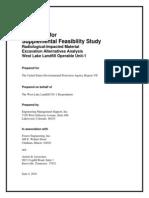 Final Supplemental Feasibility Study Work Plan, Operable Unit 1, June 2010