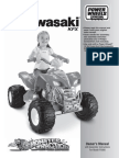 Fisher Price Power Wheels Barbie Kawasaki KFX With Monster Traction 4302051 Manual 01