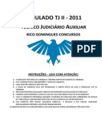 Simulado Rico Domingues - TJ - Técnico Judiciário Auxiliar II