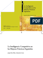 La Inteligencia Competitiva en las Mejores Prácticas Españolas, Tena & Comai