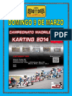 Cartel Propio Campeonato Karting Madrid
