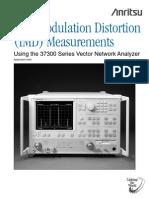 Intermodulation Distortion Measurements
