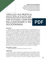 VÍNCULO NA PRÁTICA EDUCATIVA ESCOLAR