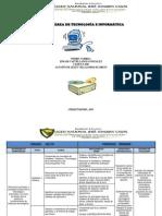 PLAN DE ESTUDIOS DE TECNOLOGÍA E INFORMÁTICA 2013