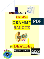 """1/27/14 re """"GRAMMY SALUTE to the BEATLES, 50th ANNIVERSARY of ED SULLIVAN SHOW"""""""