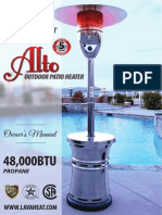 Lava Heat Italia - Alto patio heater - Owners Manual