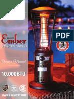 Lava Heat Italia - Ember Mini patio heater - Owners Manual